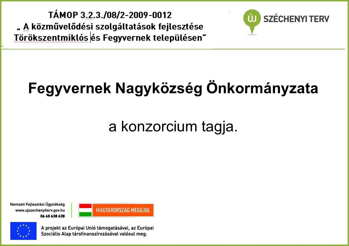 Partnerek - 1 Konzorciumi partner Regionális Munkaügyi Központ, a partneri feladatait a Törökszentmiklósi Kirendeltség látja el.