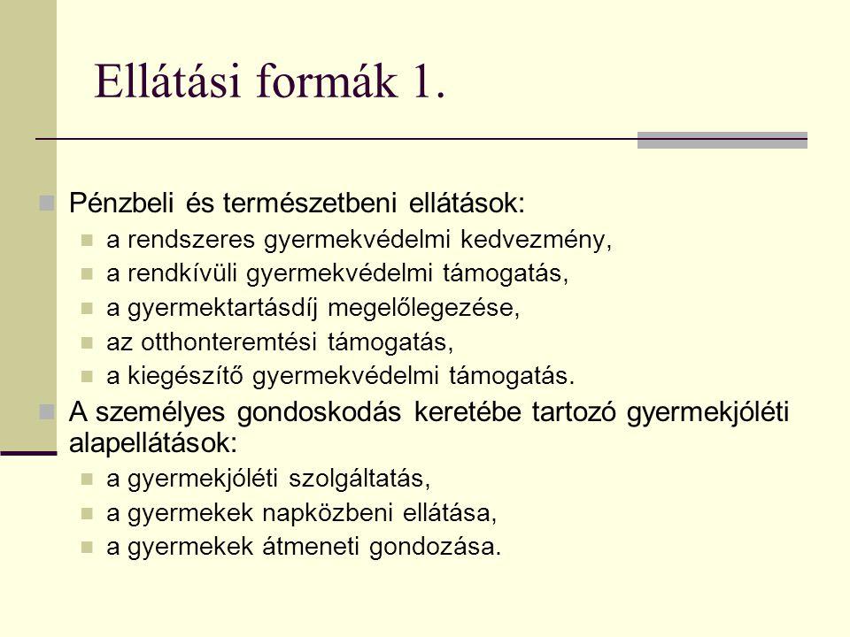 Ellátási formák 1.