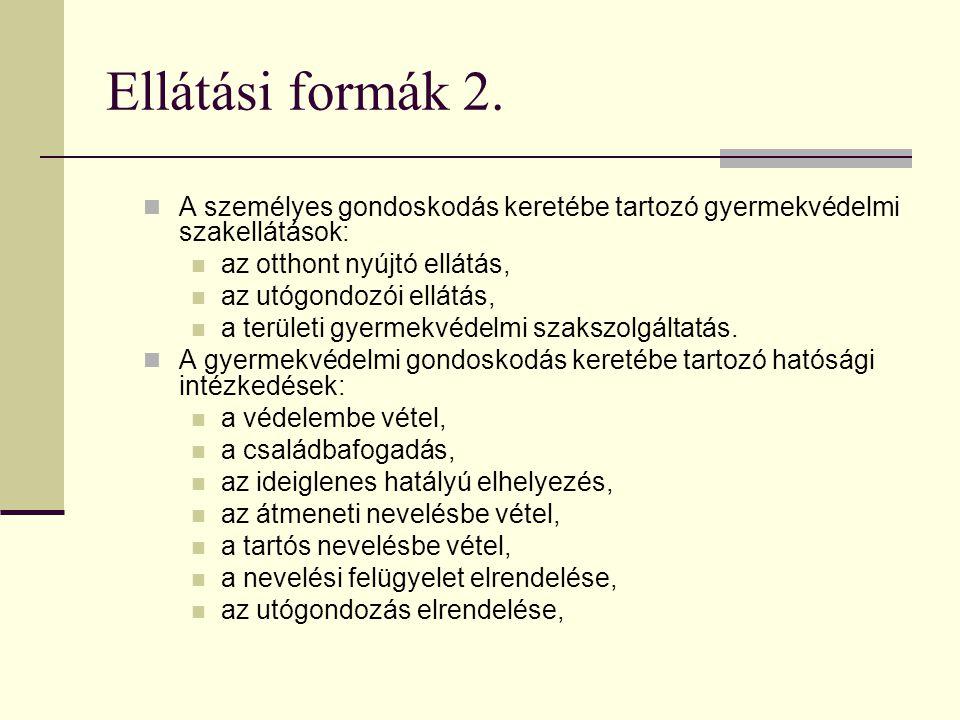 Ellátási formák 2.