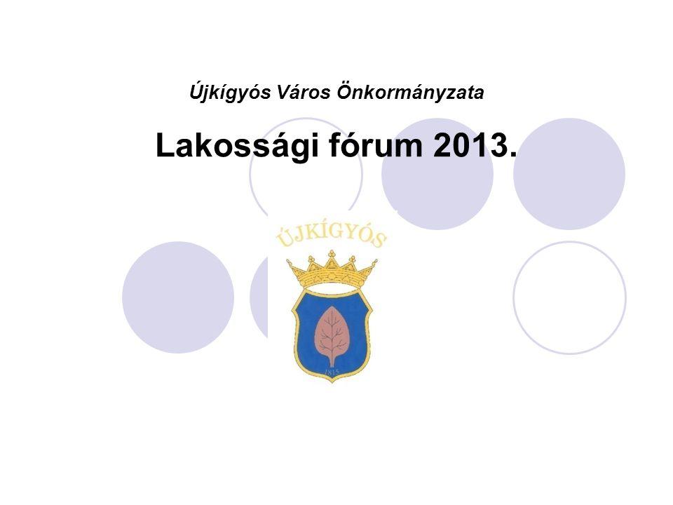Újkígyós Város Önkormányzata Lakossági fórum 2013.