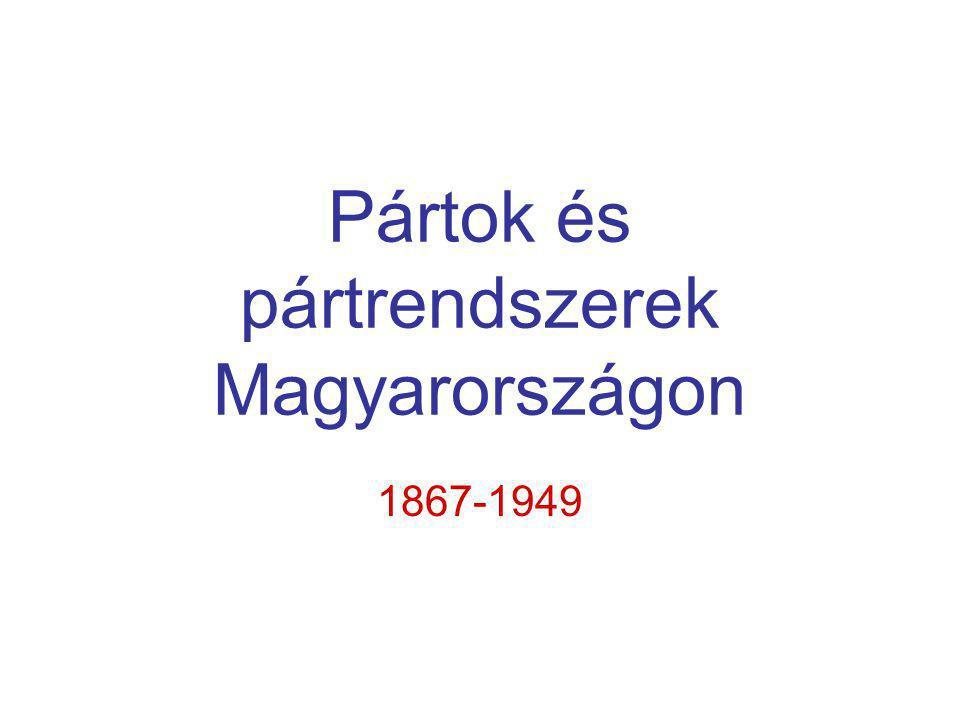 Pártok és pártrendszerek Magyarországon 1867-1949