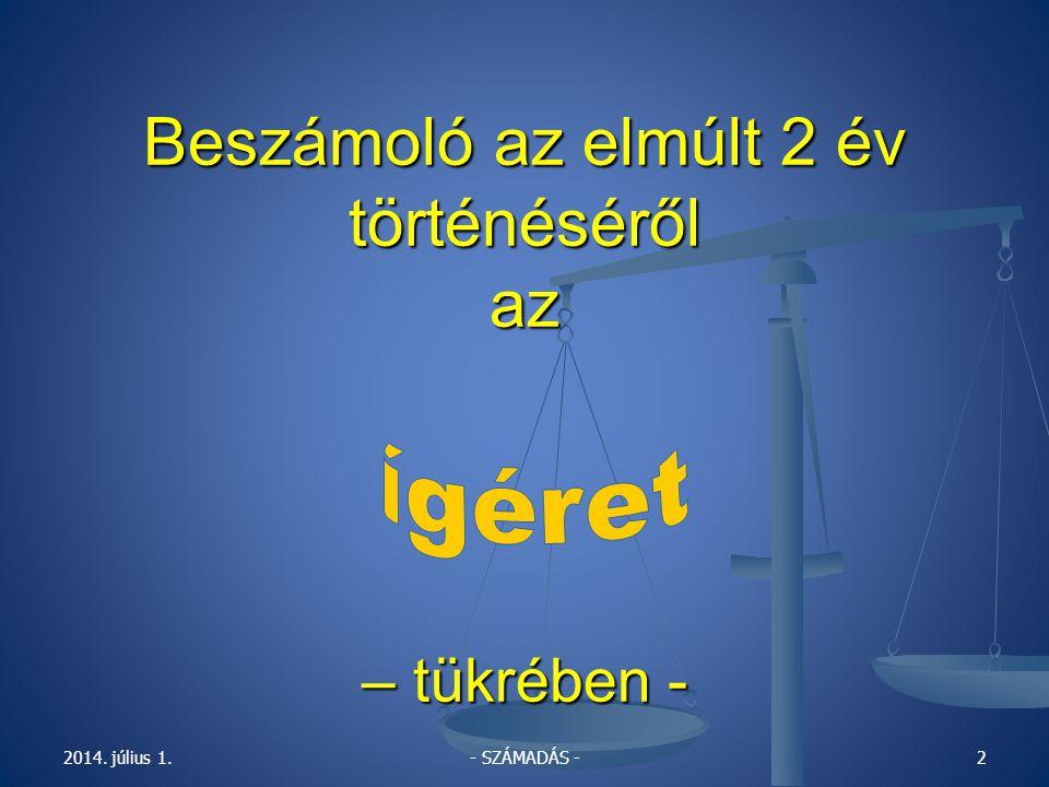 2008.október 22. 18. 00 óra - párbeszéd Harcért – 2008.SZÁMADÁS 2006.-2008.