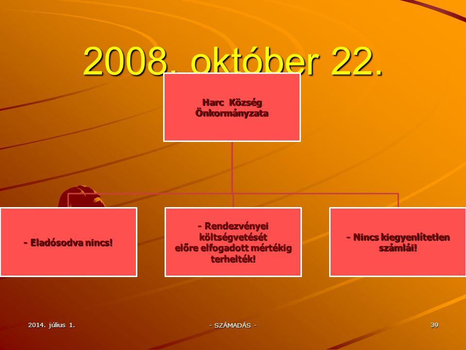 2008.01.01.– napjainkig elvégzett munkafolyamatok 1.