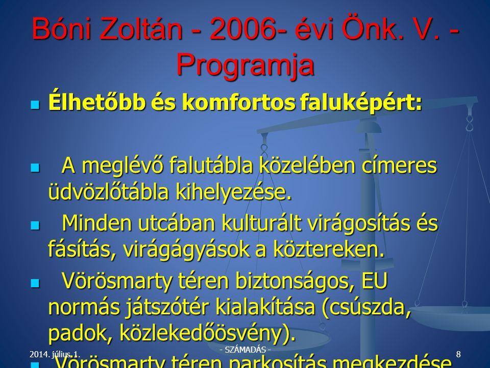 Bóni Zoltán - 2006- évi Önk.V.