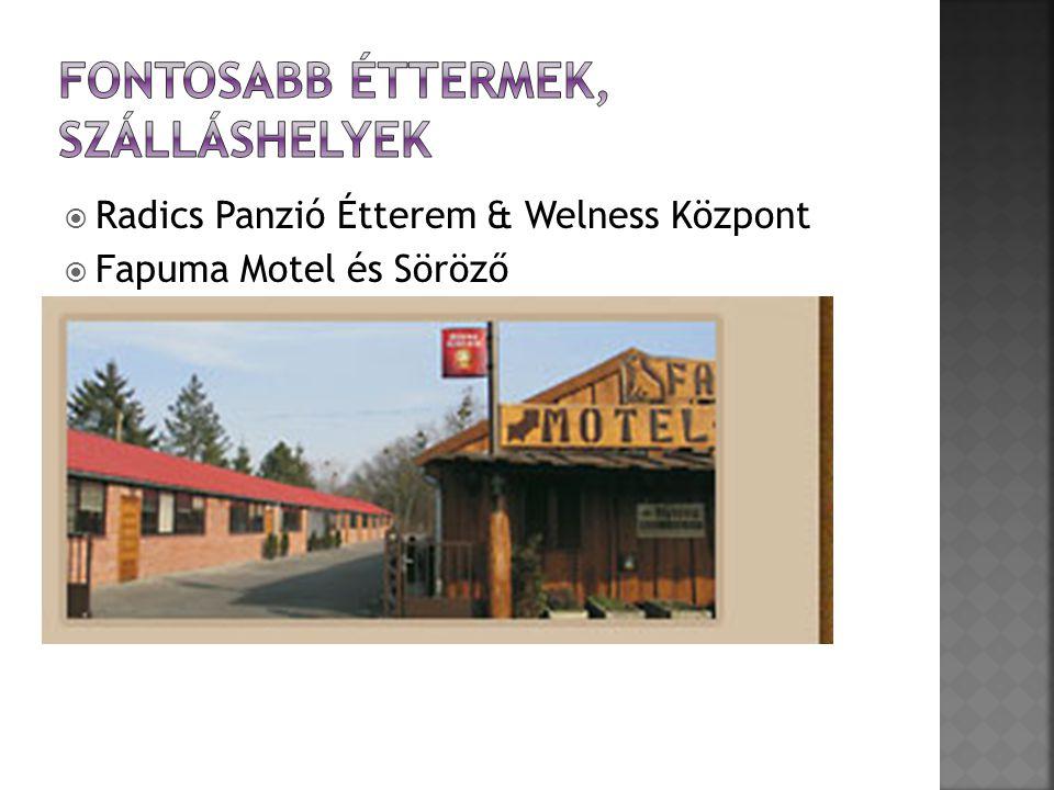  Radics Panzió Étterem & Welness Központ  Fapuma Motel és Söröző  Szélkakas Étterem-Panzió