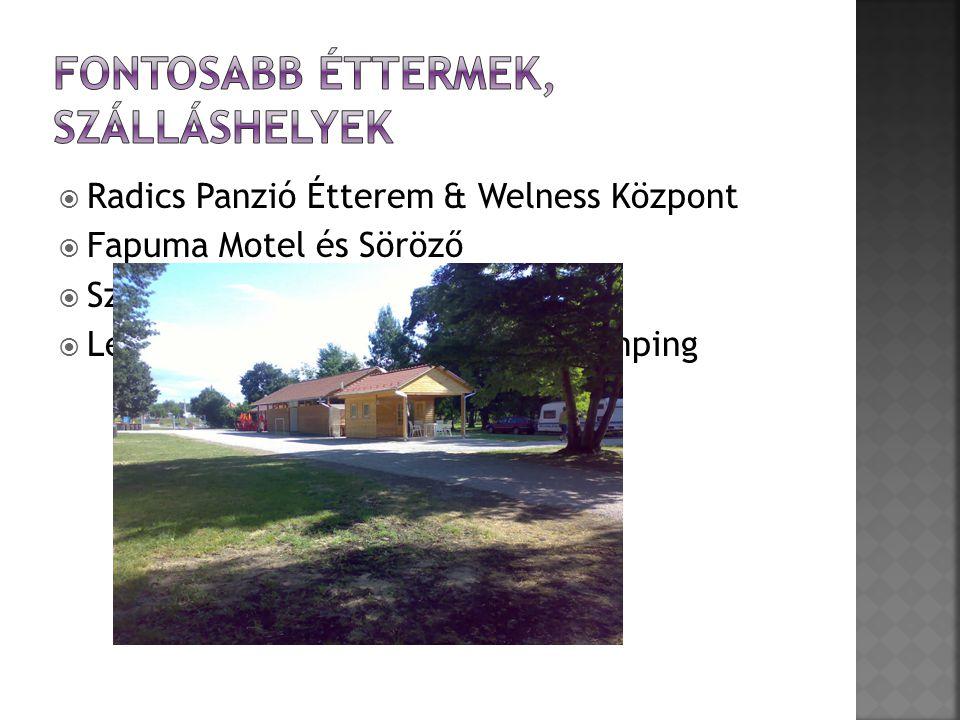  Radics Panzió Étterem & Welness Központ  Fapuma Motel és Söröző  Szélkakas Étterem-Panzió  Letenye városi Termálfürdő és Kemping  Nefelejcs Panzió és Apartmanház