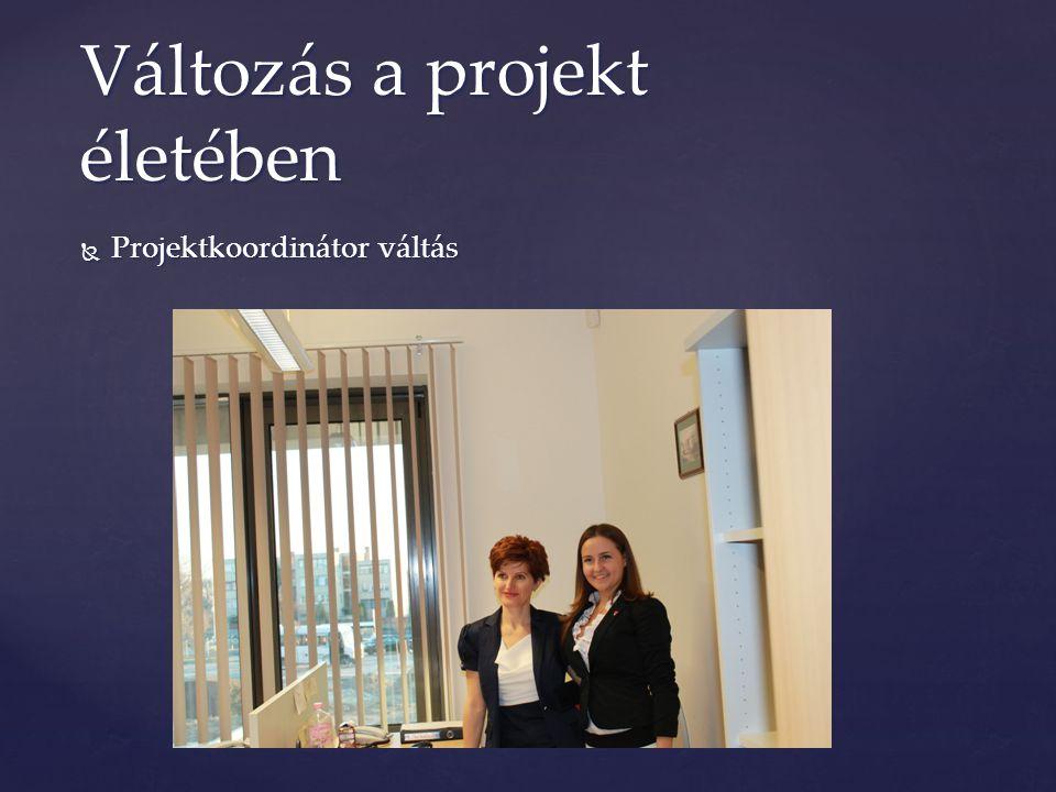  Projektkoordinátor váltás Változás a projekt életében