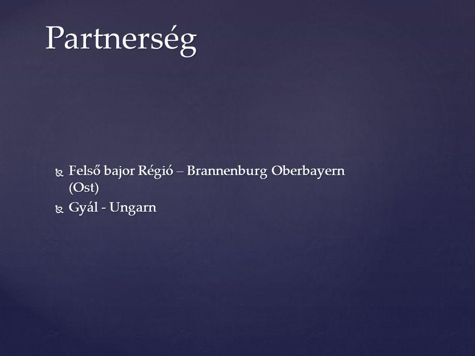  Felső bajor Régió – Brannenburg Oberbayern (Ost)  Gyál - Ungarn Partnerség