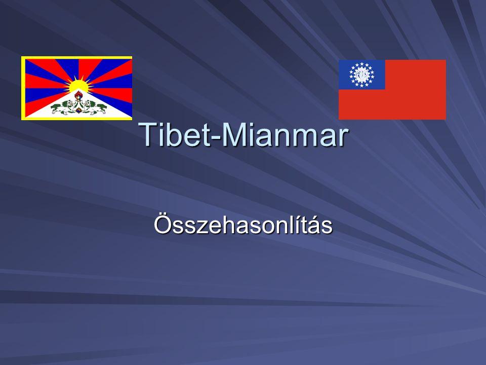 Tibet-Mianmar Összehasonlítás