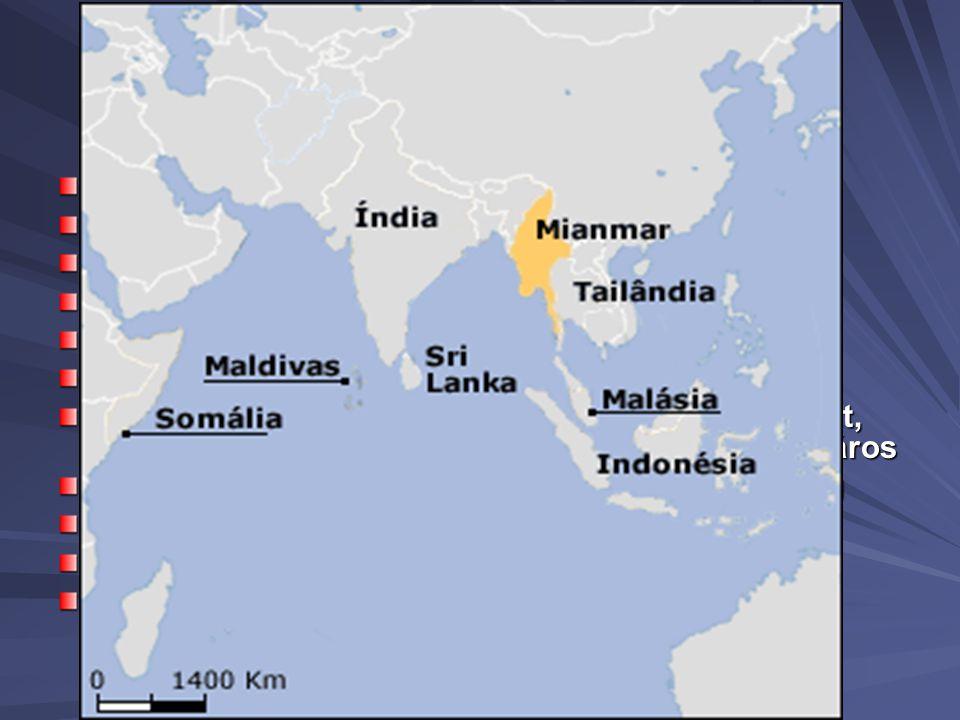 Mianmar -földrajz Mianmar: Főváros: Naypyidaw Népesség: 42 909 464 fő 62 fő/km2 Pénznem: kyat Terület: 678 500 km2 Korábban Burmának nevezték Délkelet