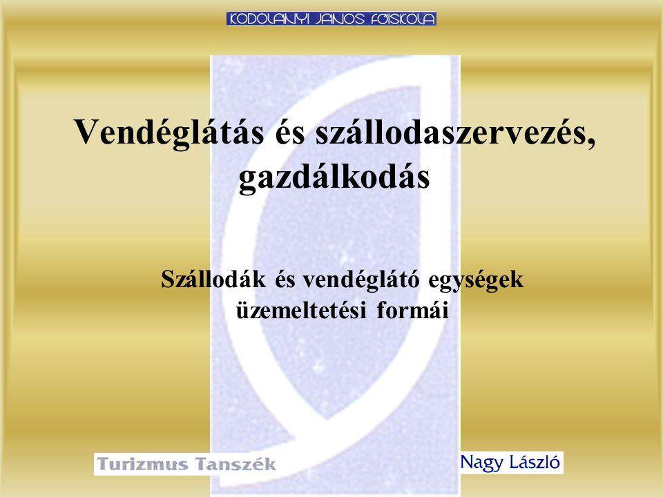 3.előadásVendéglátás és szállodaszervezés, gazdálkodás 42 Belépési díj fix, ill.