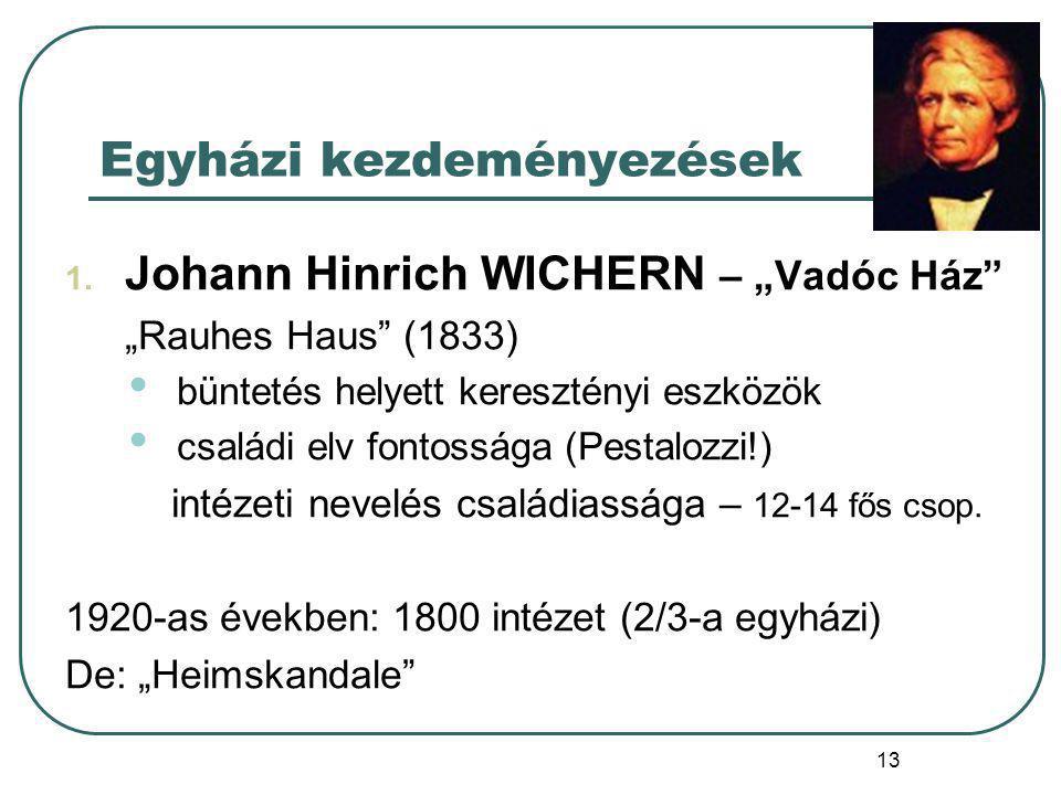 14 Johann Hinrich WICHERN (1808-1881) protestáns lelkész A 2008.
