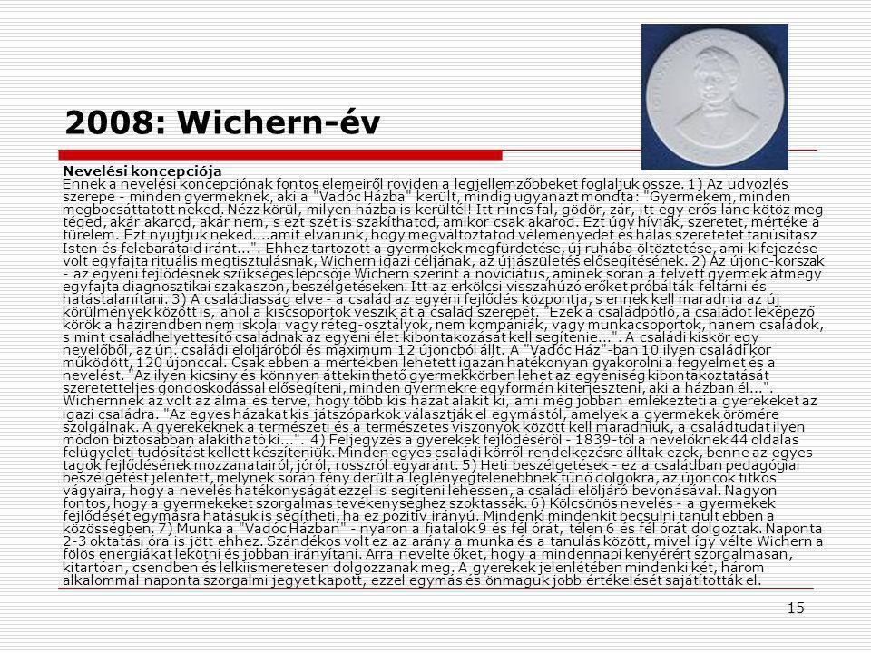 16 Egyházi kezdeményezések 2.Belmisszió (Wichern) 1842-től keresztyén szeretetszolg.