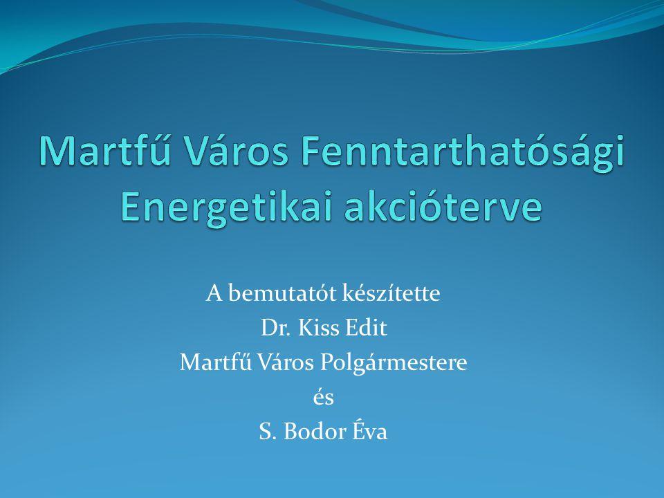 A bemutatót készítette Dr. Kiss Edit Martfű Város Polgármestere és S. Bodor Éva