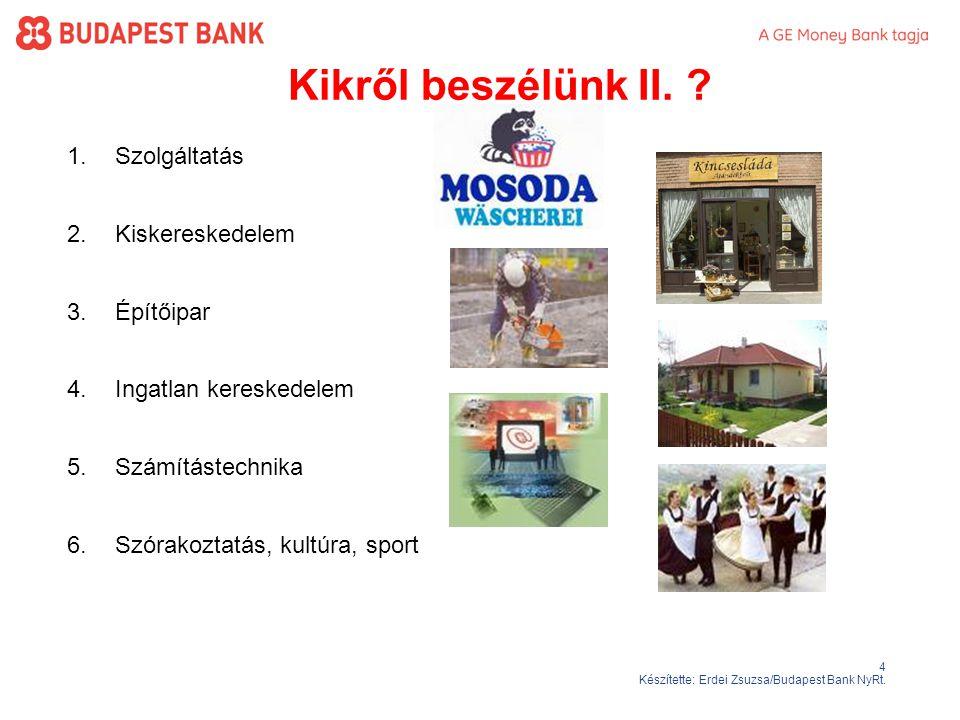 4 Készítette: Erdei Zsuzsa/Budapest Bank NyRt.Kikről beszélünk II.