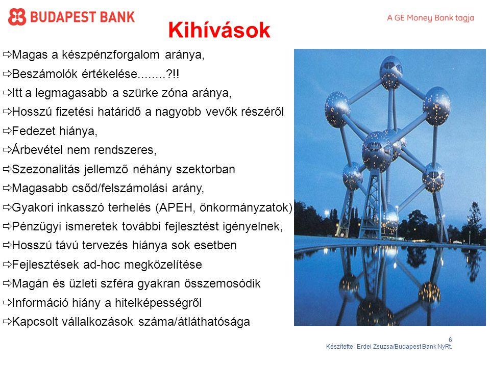 6 Készítette: Erdei Zsuzsa/Budapest Bank NyRt.