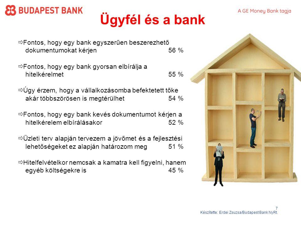 7 Készítette: Erdei Zsuzsa/Budapest Bank NyRt.