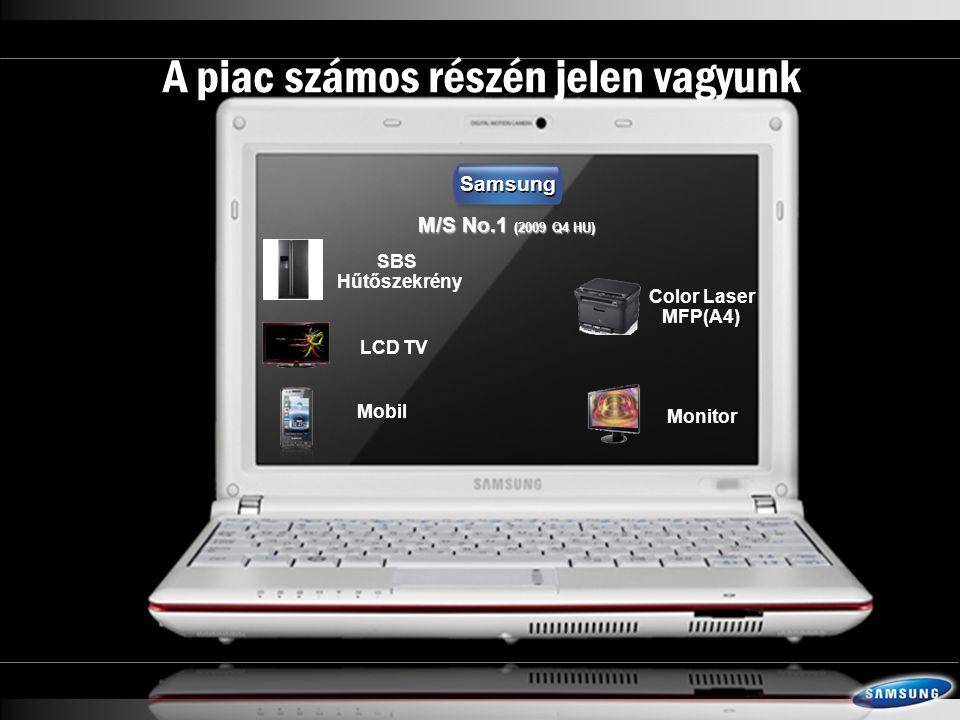 LCD TV Color Laser MFP(A4) Monitor Mobil M/S No.1 (2009 Q4 HU) Samsung A piac számos részén jelen vagyunk SBS Hűtőszekrény