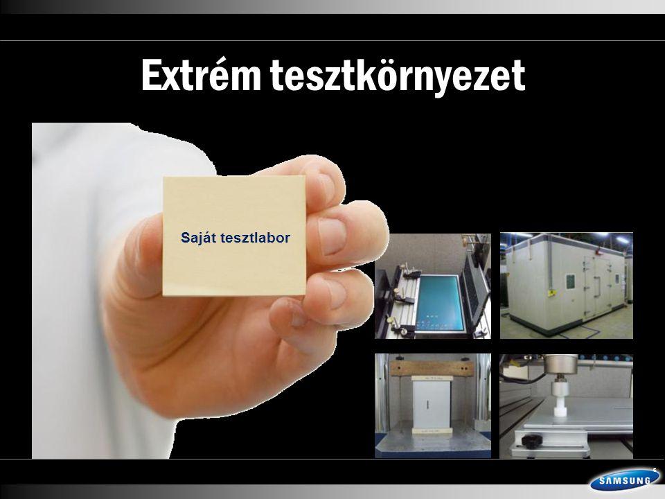 Extrém tesztkörnyezet 6 Saját tesztlabor