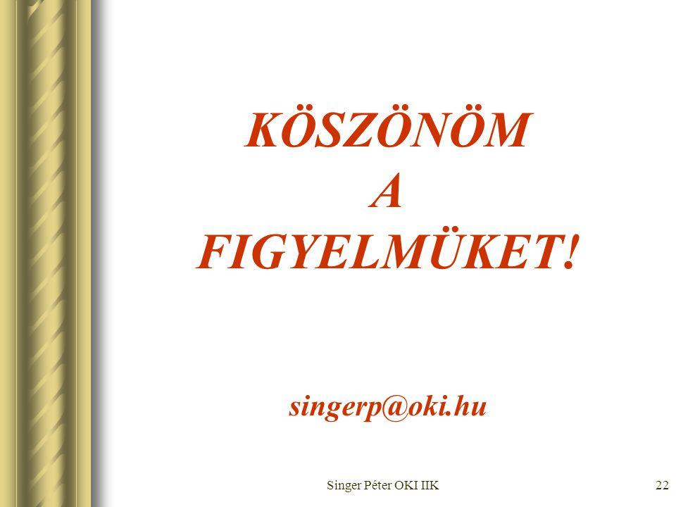 Singer Péter OKI IIK22 KÖSZÖNÖM A FIGYELMÜKET! singerp@oki.hu
