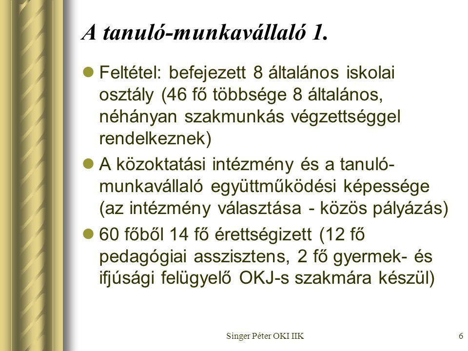 Singer Péter OKI IIK6 A tanuló-munkavállaló 1.