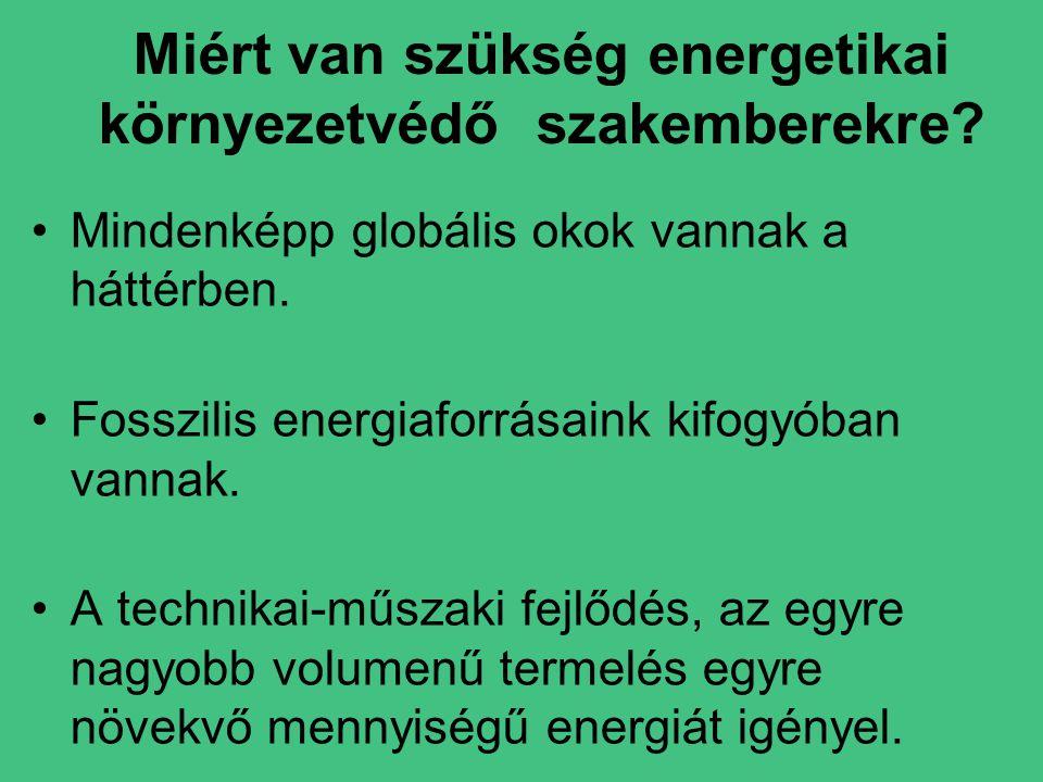 Miért van szükség energetikai környezetvédő szakemberekre.