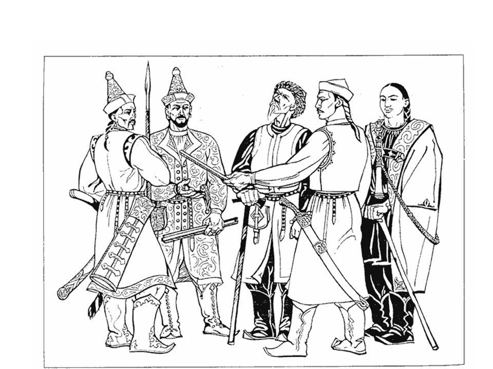 Gazdaság • Alapvetően nomád, kalandozó nép – vagyonszerzésre a háború kitűnő lehetőség – foglyok szerzése – váltságdíj vagy szolga • Állattartás jelentős – Elsősorban rideg ló és juhtenyésztés • Letelepült földművelés és állattenyésztés – már a Kazár birodalomban is (török jövevényszavak) – marha, sertés, kecske, sőt baromfi haszonállatok