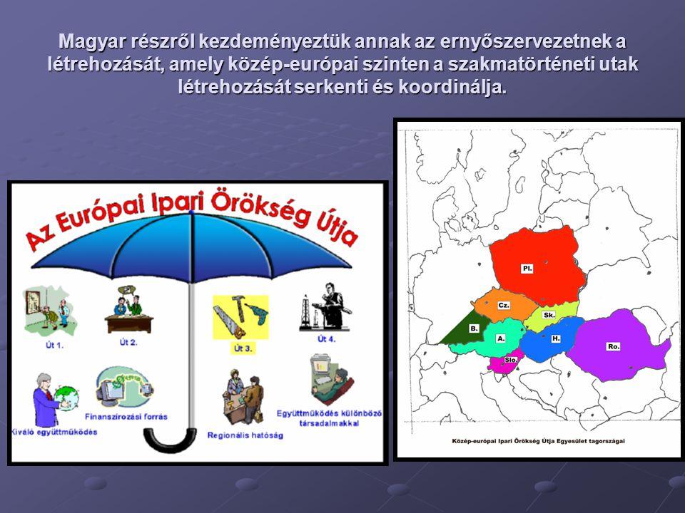 Magyar részről kezdeményeztük annak az ernyőszervezetnek a létrehozását, amely közép-európai szinten a szakmatörténeti utak létrehozását serkenti és koordinálja.