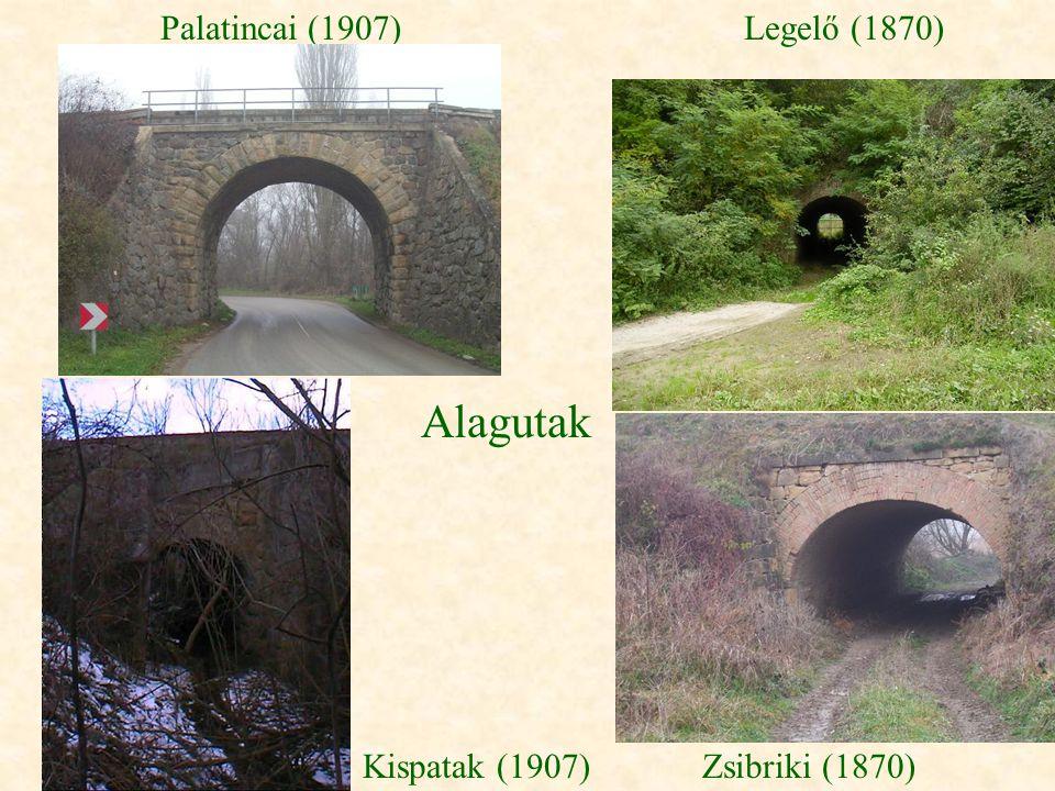 Alagutak Legelő (1870)Palatincai (1907) Kispatak (1907)Zsibriki (1870)
