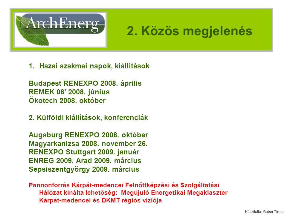 1.Hazai szakmai napok, kiállítások Budapest RENEXPO 2008.