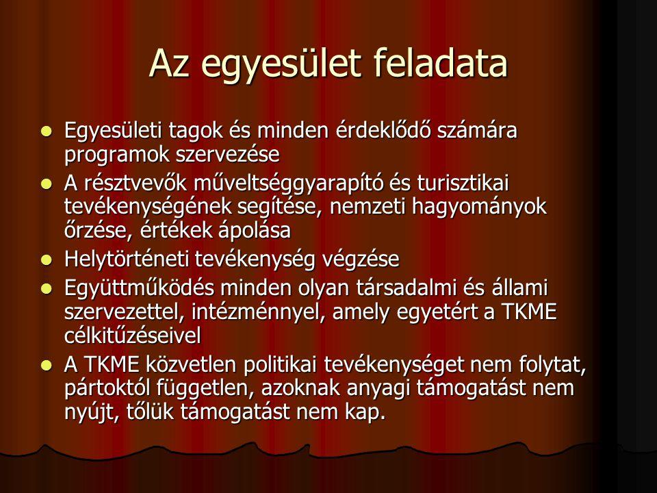 Az egyesület tagjai Az Egyesület tagja lehet minden magyar és nem magyar állampolgár, aki az egyesület alapszabályát magára nézve kötelezőnek ismeri el, az Egyesület célkitűzéseit elfogadja és ennek érdekében tevékenykedik.