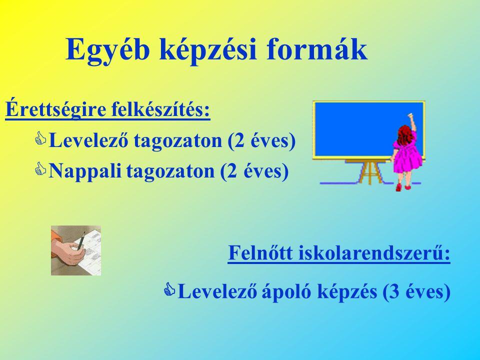 Szakiskola kód Szakmacsoport 9 – 10. évfolyamokon választható szakképesítések 11-12-13 évfolyamokon képzési idő szükséges előképzettség 60 Egyéb szolg
