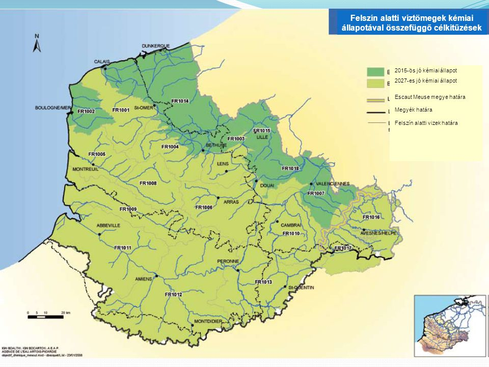 DCE, SDAGE és SAGE  Lejtős medencénkénti kezelés  Kezelési terv = SDAGE Infrastrukturális és vízkezelési igazgatói séma  Meghatározza a nagy irányultságokat  Meghatározza a kezelési szabályokat