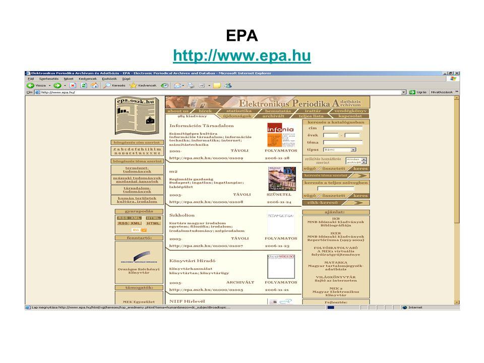 EPA http://www.epa.hu http://www.epa.hu