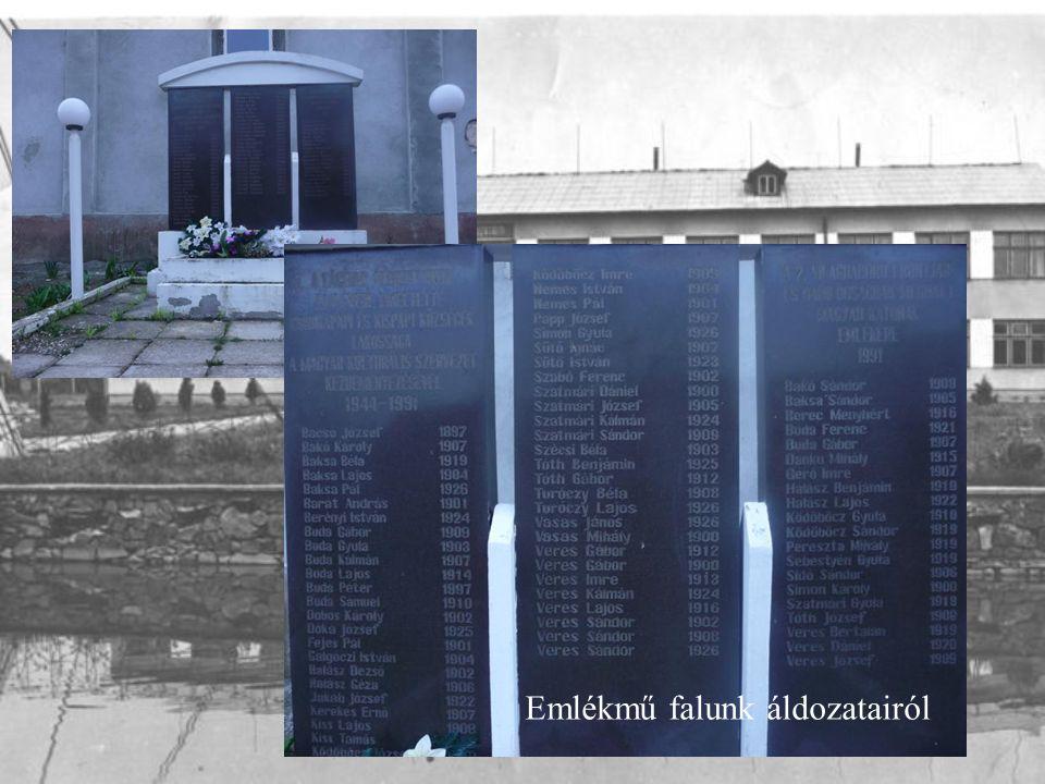 Emlékmű falunk áldozatairól
