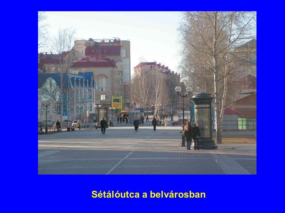 Sétálóutca a belvárosban