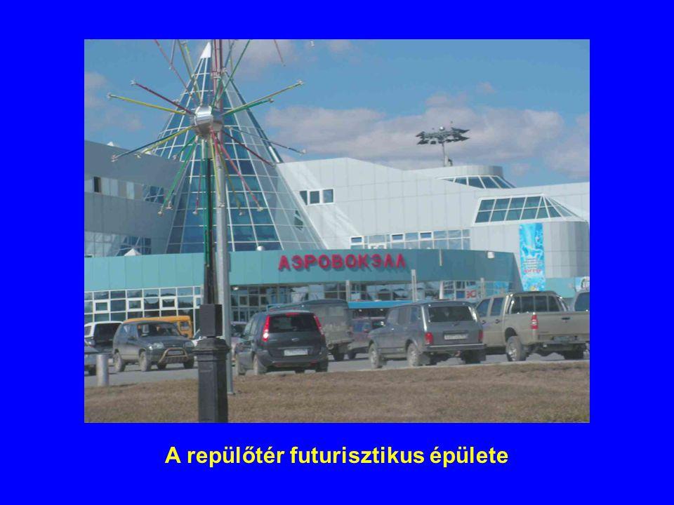 A repülőtér futurisztikus épülete