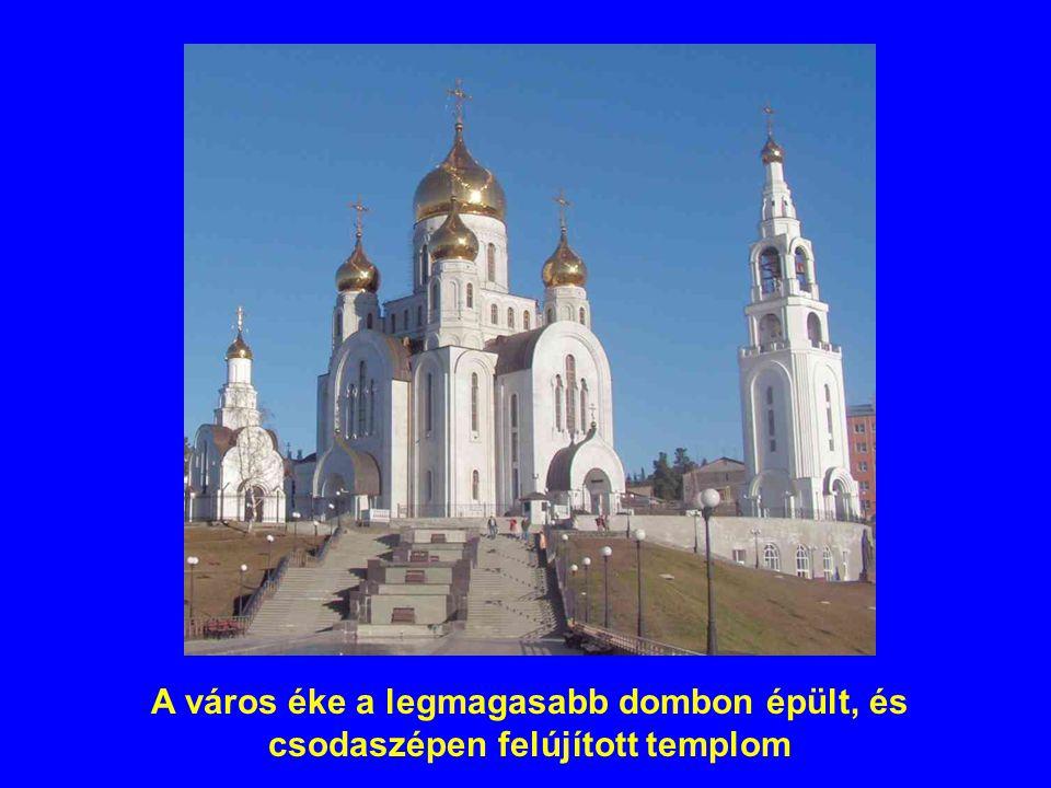 A város éke a legmagasabb dombon épült, és csodaszépen felújított templom