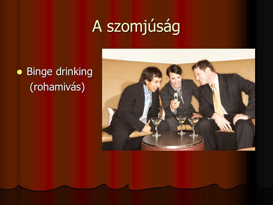 A szomjúság  Binge drinking (rohamivás) (rohamivás)