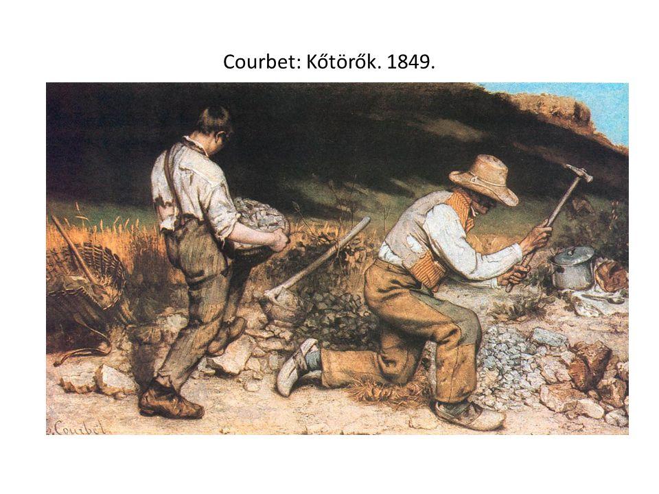 Courbet: Kőtörők. 1849.