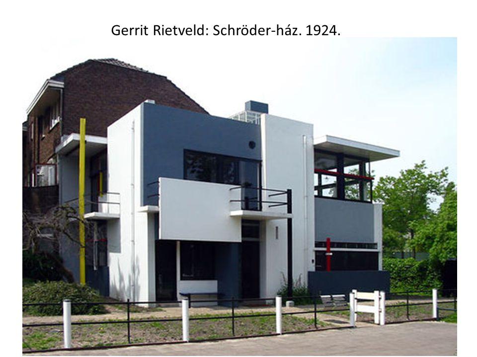 Gerrit Rietveld: Schröder-ház. 1924.