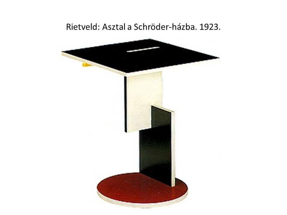 Rietveld: Asztal a Schröder-házba. 1923.