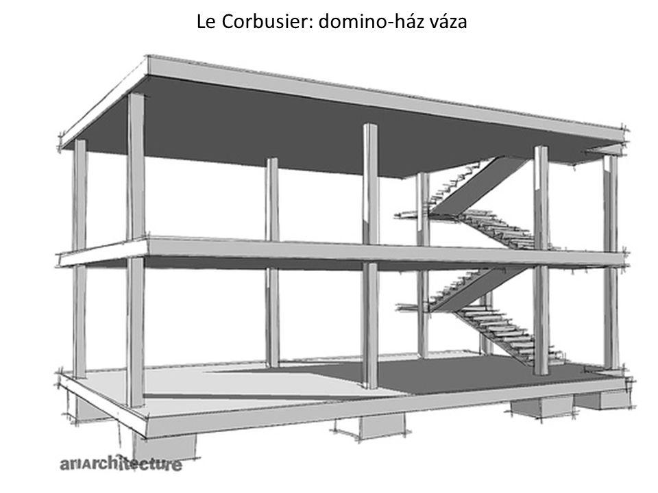 Le Corbusier: domino-ház váza