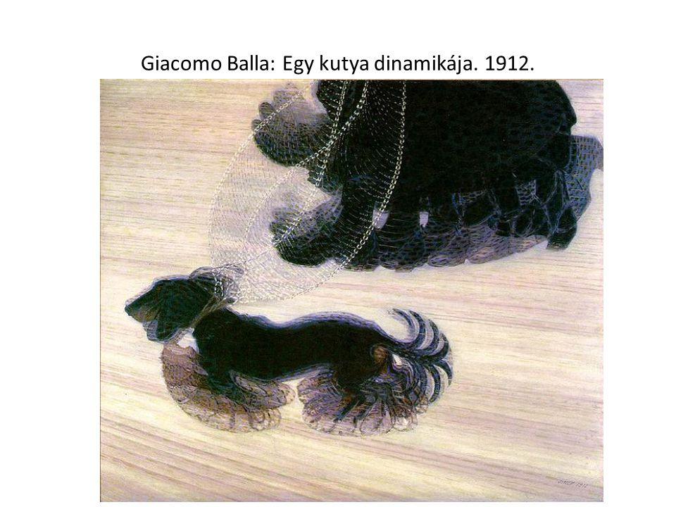 Giacomo Balla: Egy kutya dinamikája. 1912.