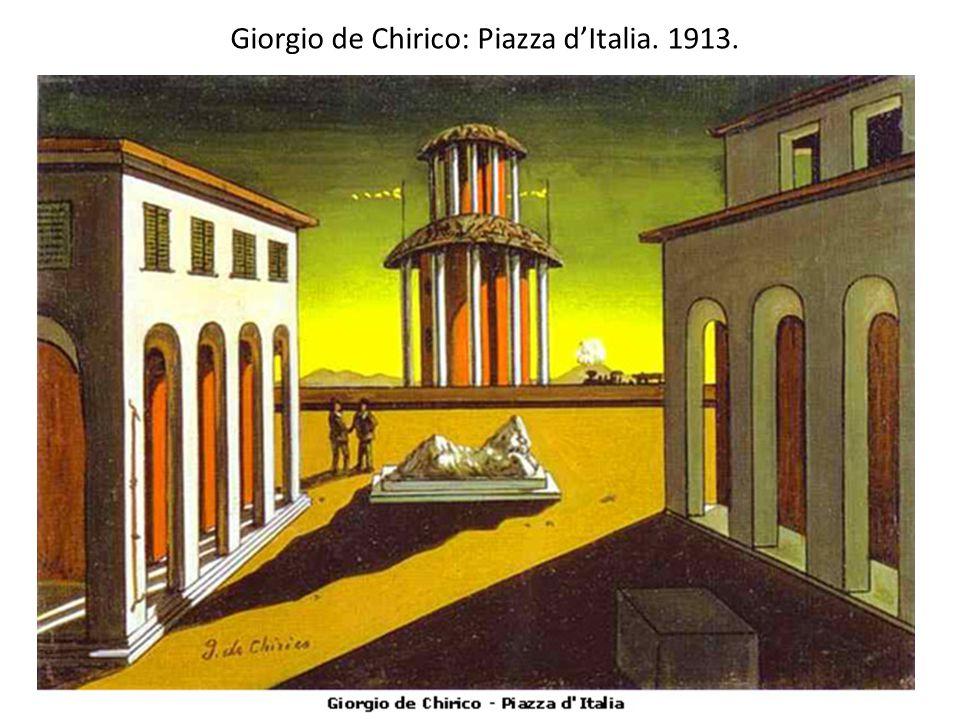 Giorgio de Chirico: Piazza d'Italia. 1913.