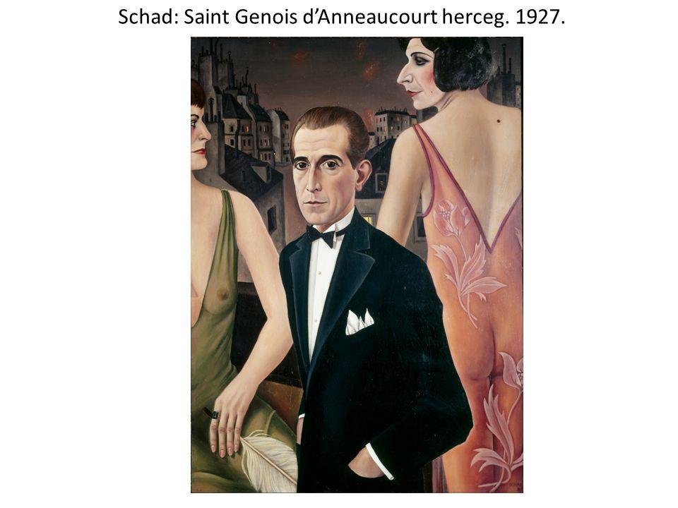 Schad: Saint Genois d'Anneaucourt herceg. 1927.
