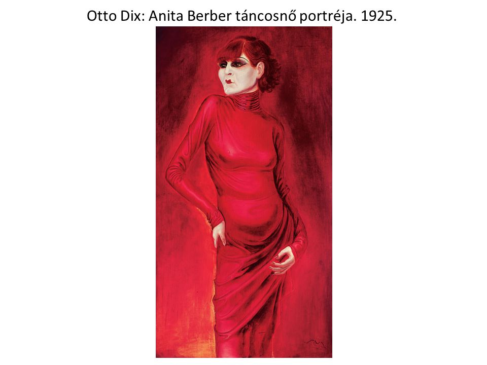 Otto Dix: Anita Berber táncosnő portréja. 1925.