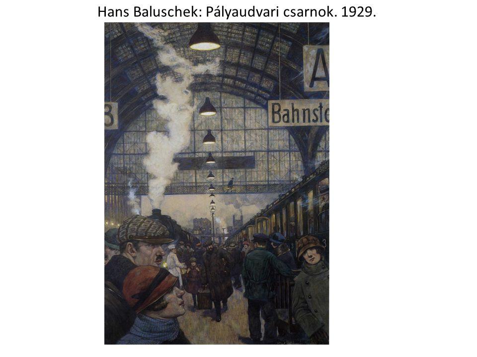 Hans Baluschek: Pályaudvari csarnok. 1929.