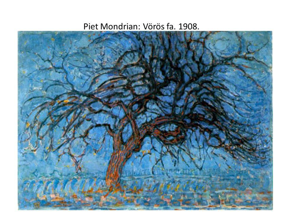 Piet Mondrian: Vörös fa. 1908.