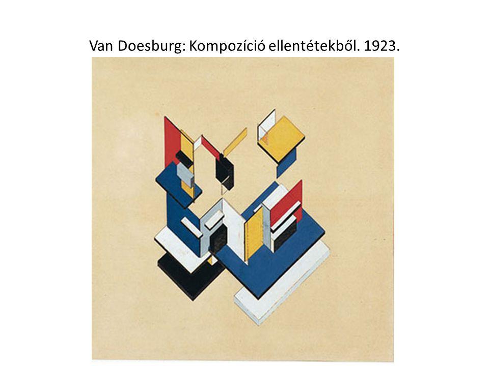 Van Doesburg: Kompozíció ellentétekből. 1923.
